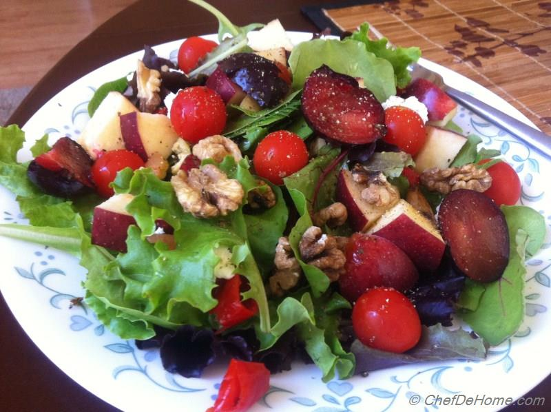 Ruby Red Apples, Plum and Cherry Tomatoes Salad Recipe ...