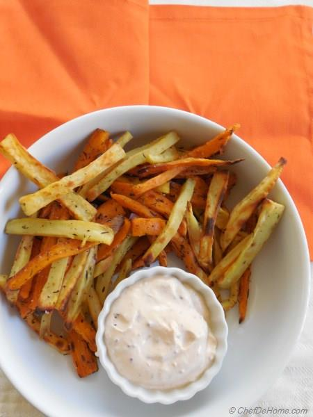 Thyme Dusted Baked Sweet Potato Fries Recipe | ChefDeHome.com Beauregard Sweet Potatoes