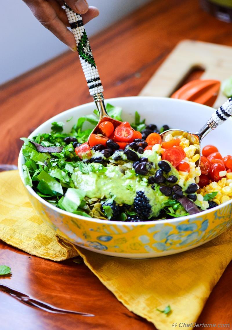 Black bean salad dressing