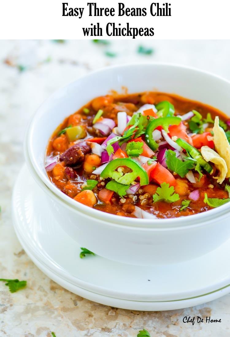 Three bean chili easy recipes