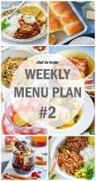 Weekly Meal Menu Plan - 2