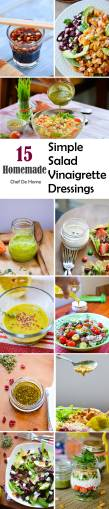 15 Homemade Simple Salad Vinaigrette Dressings