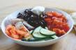 Curried Kidney Beans, Carrots and Cucumber Salad