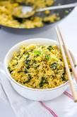 Vegan Tofu Scramble Kale Fried Rice