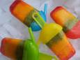 Tri-Color Fruit Ice Pops