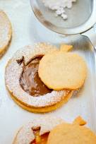Hazelnut-Almond Big Apple Linzer Cookies