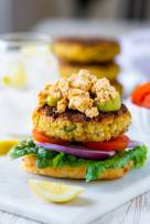 Spicy Feta Chickpea Burgers