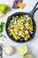 Breakfast Chilaquiles Verde - Roasted Tomatillos Salsa