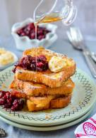 Eggnog French Toast with Orange Butter