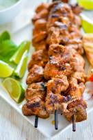 Grilled Tandoori Turkey Tikka Skewers