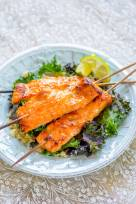 Miso Ginger Salmon with Kale and Quinoa