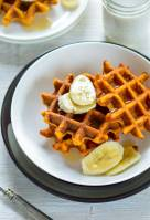 Healthy Sweet Potato Oats Waffles