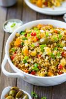 Mediterranean Warm Quinoa Salad with Squash and Cauliflower
