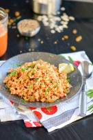 Savory Onion-Tomato Breakfast Oats - Indian Oats Poha