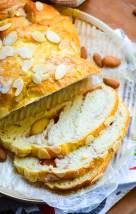 Strawberry Jam Swirl Breakfast Bread with Marzipan