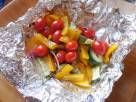 Zucchini and Peppers Grilled In a Foil