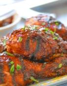 BBQ Chicken Drumsticks with Chipotle-Beer BBQ Sauce