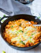 One Pot Buffalo Chicken and Rice Casserole
