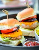 Jerk Chicken Sliders with Grilled Pineapple Relish
