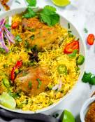 Curry Chicken Rice (Instant Pot, Pressure Cooker)