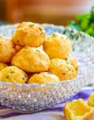 Lite and Airy Cheese and Citrus-Chive Gougeres
