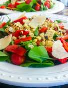 Watercress with Roasted Peppers and Corn Salad