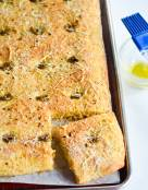 Olives and Parmesan Cornbread Focaccia