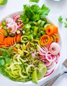 Celery Detox Salad with Cucumber and Zucchini