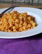 Ditalini Pasta in Tomato and Shallots Wine Sauce
