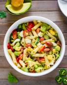 Deviled Egg Pasta Salad with Avocado