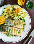 Grilled Salmon with Lemon-Butter Sauce