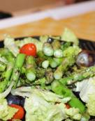 Grilled Asparagus and Grapes Salad