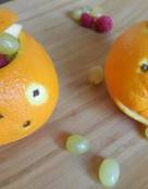 Jack-o-Lanterns Orange Fruit Cups