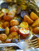 Herb Roasted Potatoes with Sweet-Spicy Mustard Dressing
