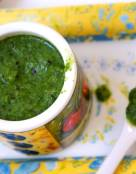 Low Calorie Kiwi and Cilantro Chutney