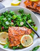 Cedar Plank Grilled Chipotle Maple Glazed Salmon