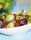 Melon Walnut Salad with Lite Lemon Dressing