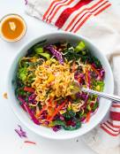 Ramen Noodle Salad with Miso Peanut Dressing