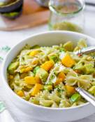 Mango Avocado Pasta Salad with Cilantro Lime Dressing