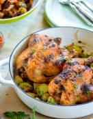 Roasted Cornish Hens with Garam Masala Honey Glaze