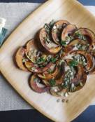 Roasted Acorn Squash with Pumpkin Seeds and Balsamic