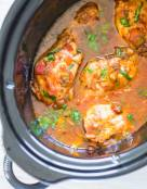 5 Ingredients Crockpot Salsa Chicken