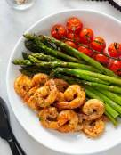 Roasted Garlic Shrimp and Asparagus