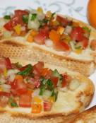 Bruschetta with Tomato and Sweet Peppers