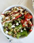 Healthy Waldorf Salad with Lite Dressing