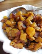 Curried Yellow Beets and Peanut Hash