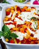 Meatless Baked Ziti with Red Kuri Squash