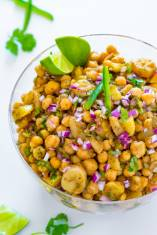 Potato Chickpea Salad - Aloo Chana Chaat
