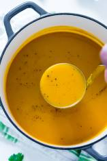 Sweet Spicy Roasted Butternut Squash Soup with Apple