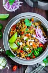 Chicken Burrito Bowl (Instant Pot/Pressure Cooker)
